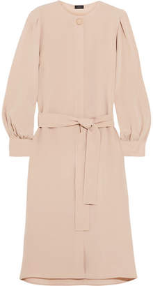 Joseph Nola Silk Crepe De Chine Midi Dress - Beige