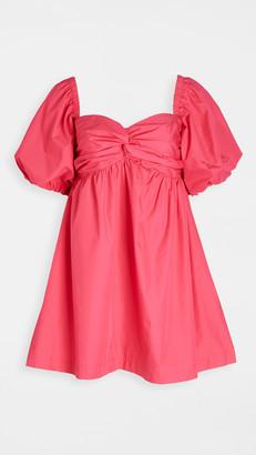 En Saison Poplin Babydoll Mini Dress