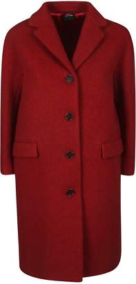 Aspesi Notched Collar Buttoned Coat