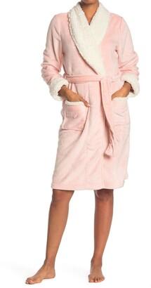 Shimera Faux Fur Lined Mid Length Robe