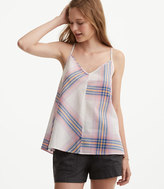 LOFT Lou & Grey Plaid Cami