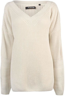 Firetrap Blackseal Cricket Knit Jumper