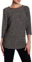 Chaus Slubby Knit Zip Shoulder Shirt