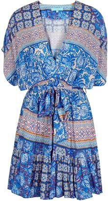 Melissa Odabash Alma printed mini dress