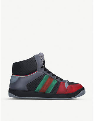Gucci Virtus leather high-top trainers