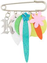 Christopher Kane K charm sequin brooch