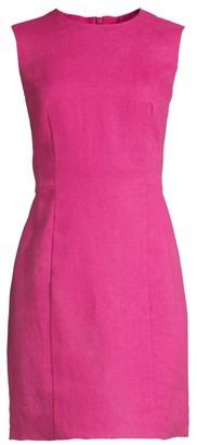 Theory Mini Panel Linen Sheath Dress