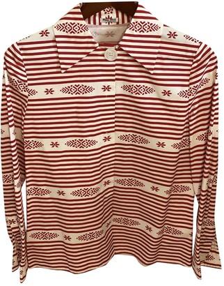 Miu Miu Red Cotton Top for Women