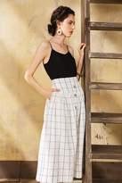 Genuine People Linen Cotton Blend Midi Skirt