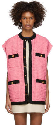 Gucci Pink Tweed Vest