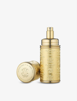 Creed Gold-toned leather atomiser 50ml