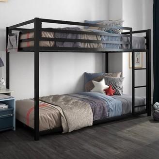 DHP Miles Metal Twin/Twin Bunk Bed, Black