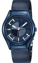 Breil Milano Men's Quartz Watch with Blue Dial Analogue Display and Blue Bracelet TW1064