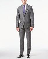 DKNY Men's Gray Donegal Slim-Fit Suit