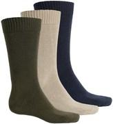 Wrangler Flat-Knit Socks - 3-Pack, Mid Calf (For Men)