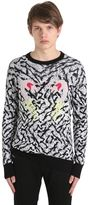 Diesel Flamingo Cotton & Viscose Knit Sweater