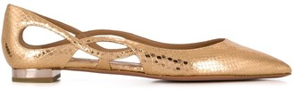 Aquazzura Cut Out Ballerina Flats