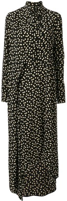 Petar Petrov Silk Polka Dot Print Dress
