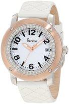 Freelook Women's HA1812RG-9 White Leather Band Matt White Dial Rose Gold Case Watch
