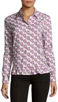 Prada Women's Hearts Poplin Button-Down Shirt