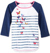 Tommy Hilfiger Tommy Striped Butterfly Graphic T-Shirt, Big Girls (7-16)