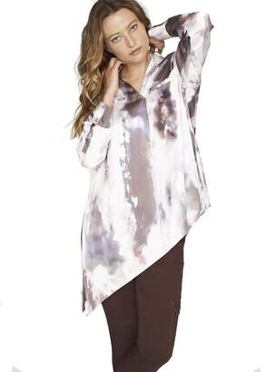 b new york Women's Dolman Sleeve Side Tie Popover Top