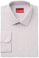 Alfani RED Men's Fitted Performance Stretch Easy Care Burgundy Dobby Dress Shirt, Only at Macy's