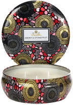 Voluspa 3 Wick Candle - Ebony & Stonefruit