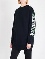 Off-White Othello Flower cotton-jersey sweatshirt