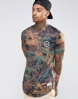 Hype T-Shirt In Brushed Camo With Crest Logo