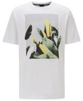 HUGO BOSS - Crew Neck T Shirt In Pima Cotton With Photographic Print - White