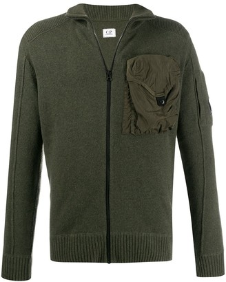 C.P. Company Chest Pocket Zip-Up Cardigan