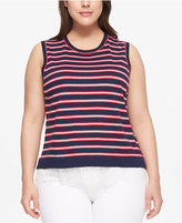Tommy Hilfiger Plus Size Striped Sweater Shell