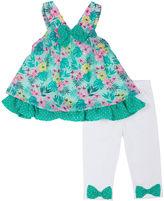 Little Lass Floral Tank Top and Leggings Set - Preschool Girls 4-6x