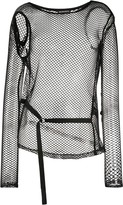 Ann Demeulemeester long-sleeve mesh top