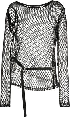 Ann Demeulemeester Long-Sleeve Mesh Top
