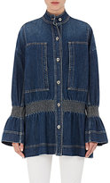 Stella McCartney Women's Smocked Denim Jacket-BLUE