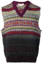 Marni raw edge sleeveless sweater vest
