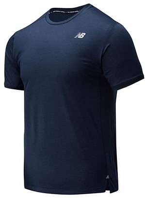 New Balance Impact Run Short Sleeve Tee (Black Heather) Men's Workout