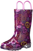 Western Chief Peace and Love Light-Up Rain Boot (Toddler/Little Kid/Big Kid)