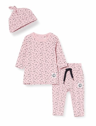 Name It Baby Girls' Nbfbarline Ls Top Toddler Layette Set