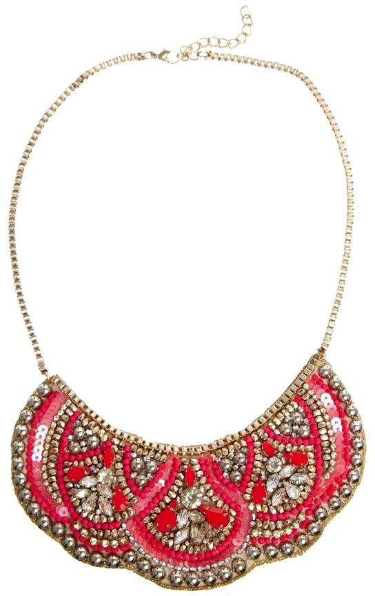 Warehouse Embellished Bib Necklace