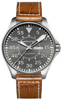 Hamilton Khaki Pilot Leather Strap Watch