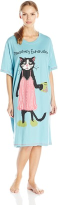 Hatley Little Blue House By Women's Crew Neck Sleepshirt