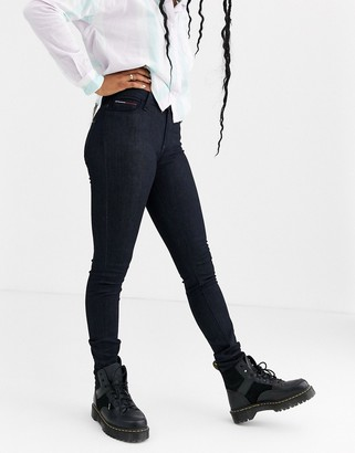 Tommy Jeans Santana high rise skinny jeans-Navy