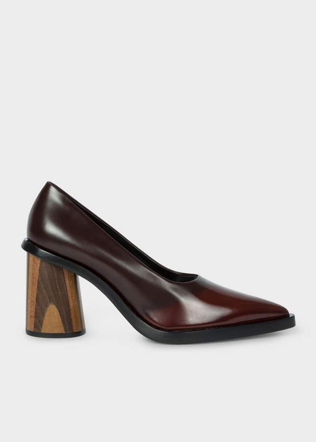 Paul Smith Women's Chocolate Brown Leather 'Mali' Heels
