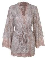 Agent Provocateur Lorelli Rose Gold & Silver Lace Kimono