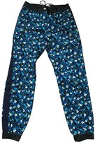 Sacai Luck Blue Cotton Trousers for Women