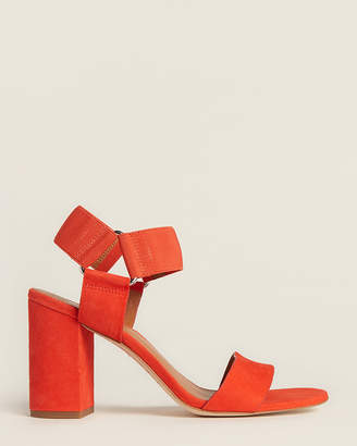 Franco Sarto Poppy Red Olivia Suede Sandals