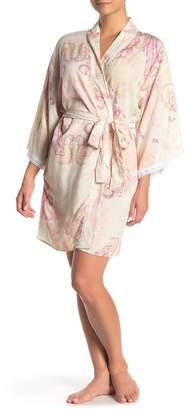 Flora Nikrooz Sleepwear Nessa Paisley Printed Wrap Kimono